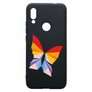 Phone case for Xiaomi Redmi 7 Bright butterfly abstraction - PrintSalon