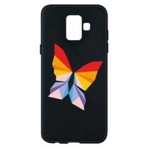 Phone case for Samsung A6 2018 Bright butterfly abstraction - PrintSalon