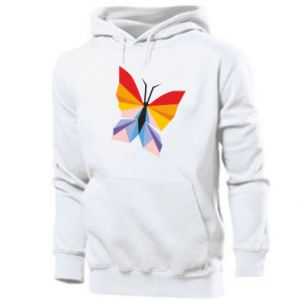 Men's hoodie Bright butterfly abstraction - PrintSalon