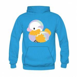 Bluza z kapturem dziecięca Bright colored duck