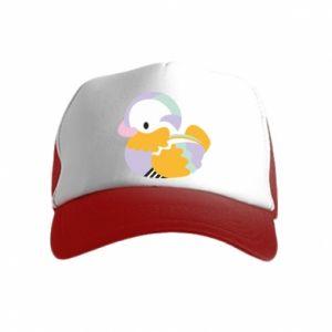 Czapka trucker dziecięca Bright colored duck