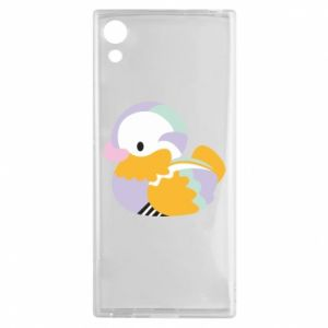 Etui na Sony Xperia XA1 Bright colored duck