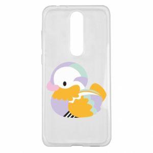 Etui na Nokia 5.1 Plus Bright colored duck