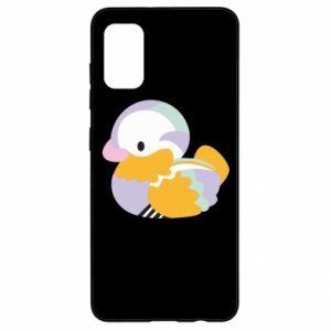 Etui na Samsung A41 Bright colored duck