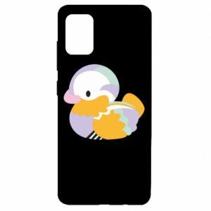 Etui na Samsung A51 Bright colored duck