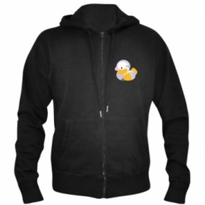 Men's zip up hoodie Bright colored duck - PrintSalon