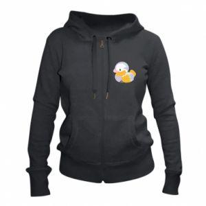 Women's zip up hoodies Bright colored duck - PrintSalon