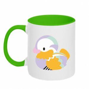 Two-toned mug Bright colored duck - PrintSalon