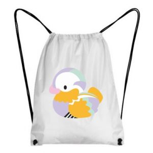 Backpack-bag Bright colored duck - PrintSalon