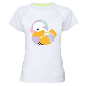 Koszulka sportowa damska Bright colored duck