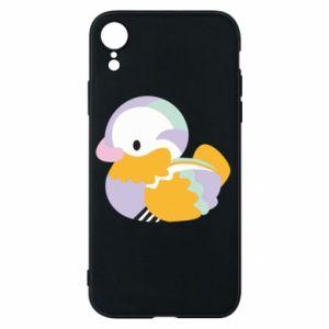 Etui na iPhone XR Bright colored duck