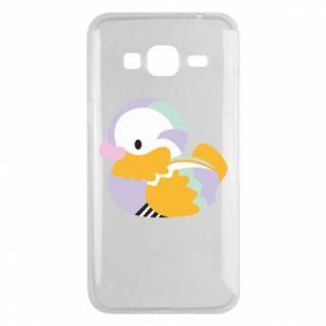 Etui na Samsung J3 2016 Bright colored duck