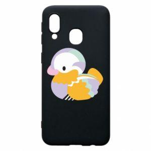 Etui na Samsung A40 Bright colored duck
