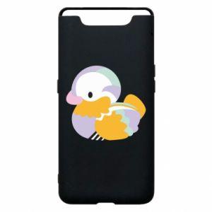 Etui na Samsung A80 Bright colored duck