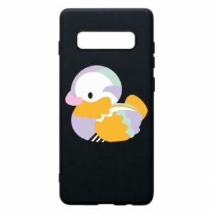 Etui na Samsung S10+ Bright colored duck