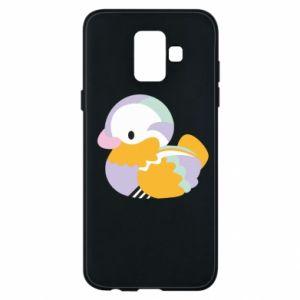Etui na Samsung A6 2018 Bright colored duck