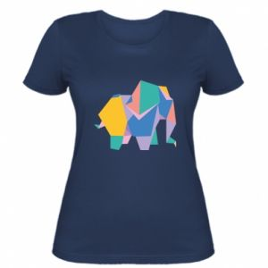 Women's t-shirt Bright elephant abstraction - PrintSalon