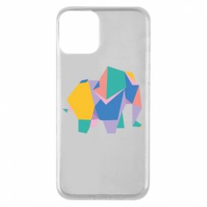 Etui na iPhone 11 Bright elephant abstraction