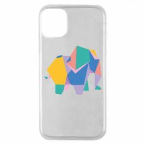Etui na iPhone 11 Pro Bright elephant abstraction