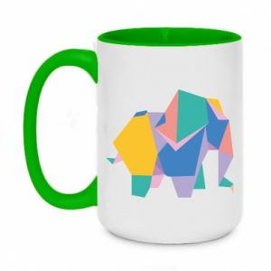 Kubek dwukolorowy 450ml Bright elephant abstraction