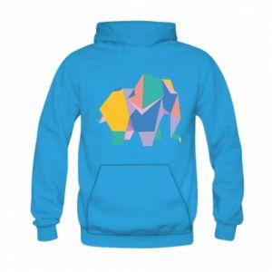 Bluza z kapturem dziecięca Bright elephant abstraction