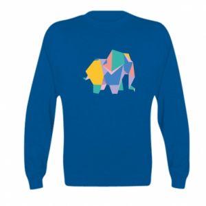 Bluza dziecięca Bright elephant abstraction