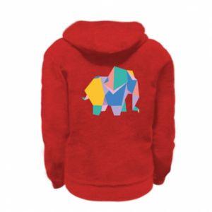 Bluza na zamek dziecięca Bright elephant abstraction