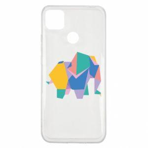 Etui na Xiaomi Redmi 9c Bright elephant abstraction