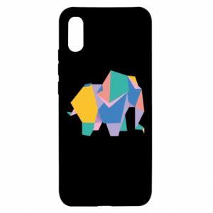 Etui na Xiaomi Redmi 9a Bright elephant abstraction