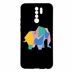 Etui na Xiaomi Redmi 9 Bright elephant abstraction