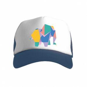 Czapka trucker dziecięca Bright elephant abstraction
