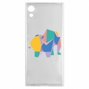Etui na Sony Xperia XA1 Bright elephant abstraction