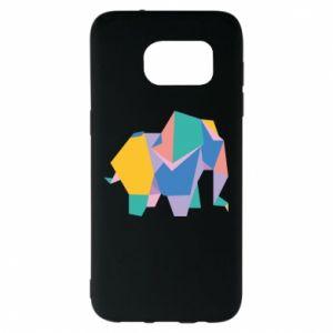 Etui na Samsung S7 EDGE Bright elephant abstraction