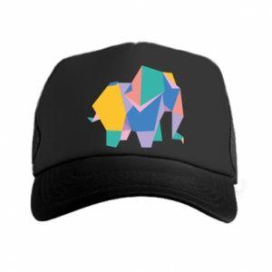 Trucker hat Bright elephant abstraction - PrintSalon