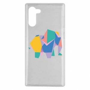 Etui na Samsung Note 10 Bright elephant abstraction