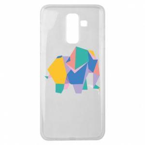 Etui na Samsung J8 2018 Bright elephant abstraction