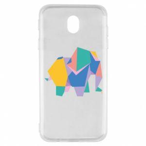 Etui na Samsung J7 2017 Bright elephant abstraction