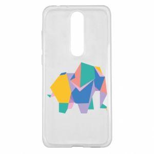 Etui na Nokia 5.1 Plus Bright elephant abstraction