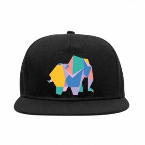 SnapBack Bright elephant abstraction - PrintSalon