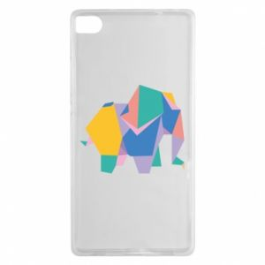 Etui na Huawei P8 Bright elephant abstraction