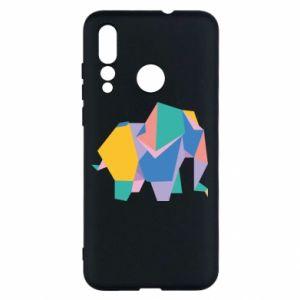 Etui na Huawei Nova 4 Bright elephant abstraction