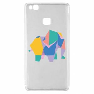 Etui na Huawei P9 Lite Bright elephant abstraction