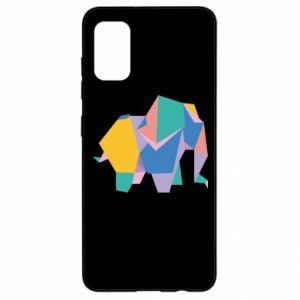 Etui na Samsung A41 Bright elephant abstraction