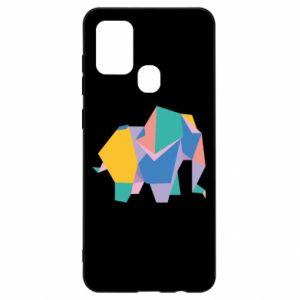 Etui na Samsung A21s Bright elephant abstraction