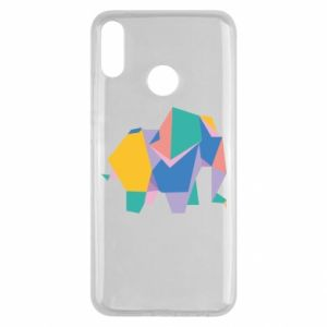 Etui na Huawei Y9 2019 Bright elephant abstraction