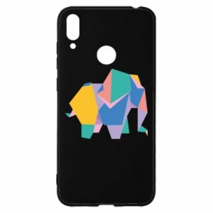 Etui na Huawei Y7 2019 Bright elephant abstraction