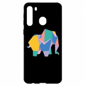 Etui na Samsung A21 Bright elephant abstraction