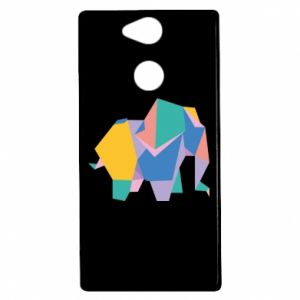 Etui na Sony Xperia XA2 Bright elephant abstraction