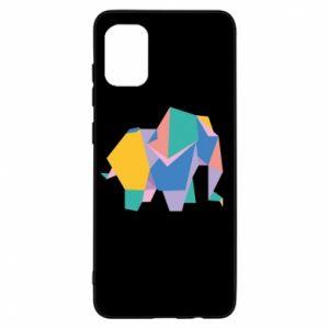 Etui na Samsung A31 Bright elephant abstraction