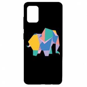 Etui na Samsung A51 Bright elephant abstraction